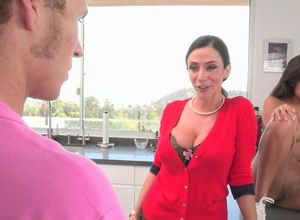 Housewife with stepdaughter blows and..