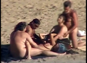 Beach wifey interchanging and 3somes..