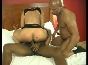 Dark-hued slutwife taking 2 BBCs and..
