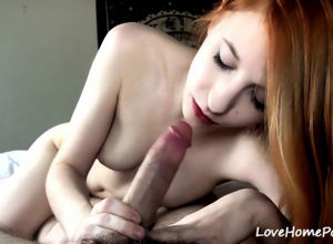 enjoy home porn, jizz flow on tongue..