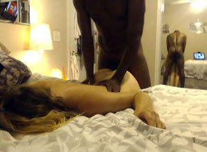 Ebony fellow harshly plow milky gf in..