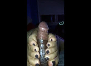 Some fledgling bi-racial footjob movie
