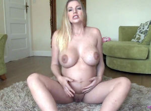 Preggo hefty globes Cougar with..
