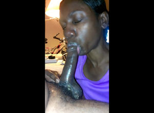 African doll gives molten oral job..