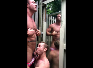 Homo fellow gets cool Oral pleasure in..