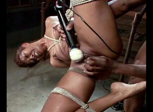 Dark-hued lady sub dumping and have..
