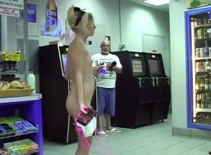 2 adorable nude shoppers overwhelmed..