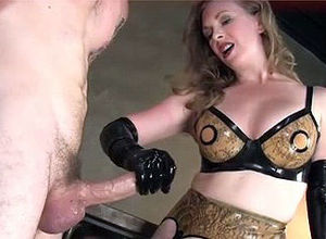 Vicious Cougar doing good hand-job and..