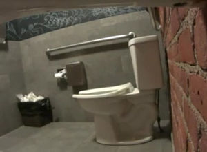 Restaurant Rest room urinate spycam