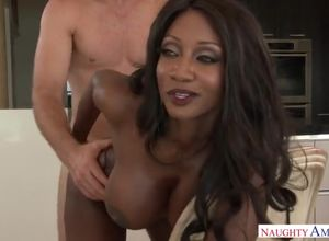 Black babe Diamond smashing her son's..