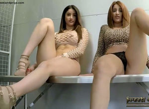 Curvaceous Indian twins  nude and jerk