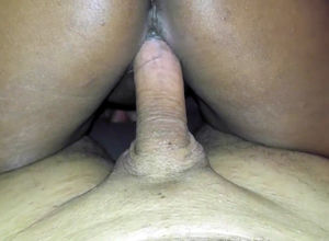 brown-eye ebony dame swiftly ejaculates