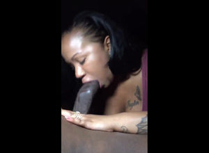 Dark-hued escort throating big ebony..