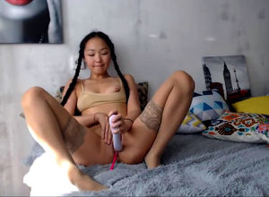 Succulent japanese maiden with wand..